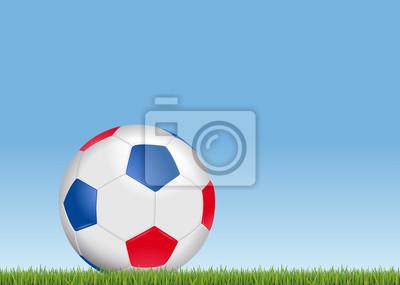 Ballon de foot tricolore - Bleu Blanc Rouge