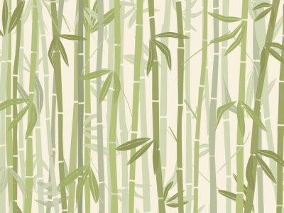 Naklejka Bambus lesie