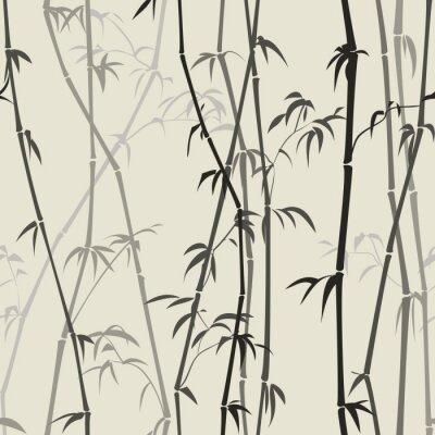 Naklejka bambusa tle