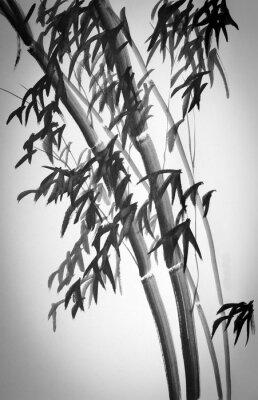 Naklejka bambusowe drzewa