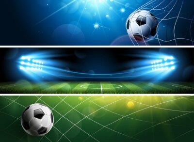 Banery piłkarskie. Wektor