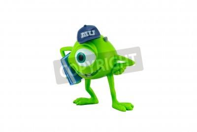 Naklejka Bangkok, Tajlandia - 12 grudnia 2014: Mike forma charakter zabawki Monter film uniwersytet produkcji Disney Pixar metodą produkcji.