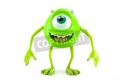 Naklejka BANGKOK, THAILAND - July 3, 2014 : Mike character toy form Monter inc animation movie by Disney Pixar.