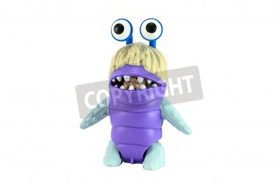 Naklejka BANGKOK, THAILAND - June 22, 2014 : Boo character form Monster inc film by Disney Pixar. There are toy sold as part of McDonald's Happy Meal.