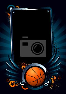 Banner Koszykówka na tle nowoczesnego