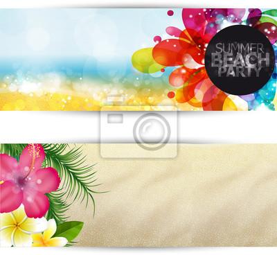 Naklejka Banner nieruchomy, Beach Party