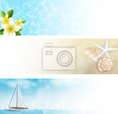 Naklejka Banner Spiaggia, klacz nieruchomości