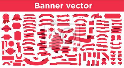 Naklejka Banner vector icon set