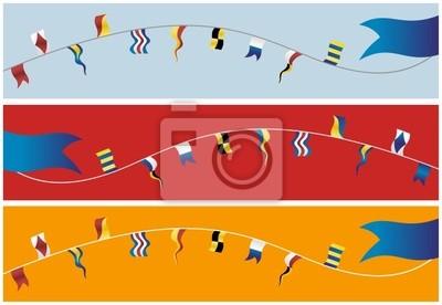 Banner z morskich flag.