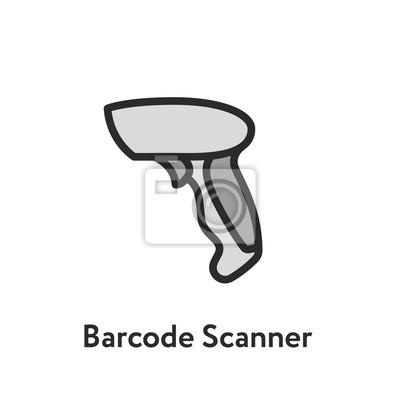 Barcode Scanner Minimal Color Flat Line Outline Stroke Icon
