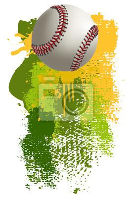 Baseball Banner. Wszystkie elementy są w oddzielnych warstwach i pogrupowane.