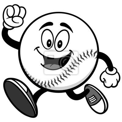 Baseball Mascot Bieganie Ilustracji
