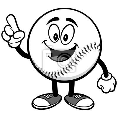 Baseball Mascot Mówiąc Ilustracji