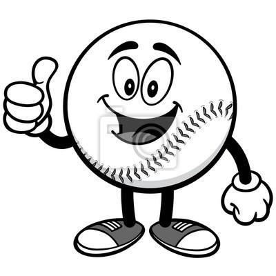 Baseball Mascot z Thumbs Up Ilustracja