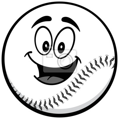 Baseball Maskotki Ikonę Ilustracji