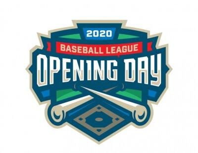 Naklejka Baseball Opening Day Logo