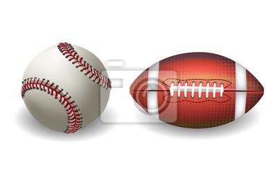 Baseball Piłka nożna wyizolowanych na białym tle