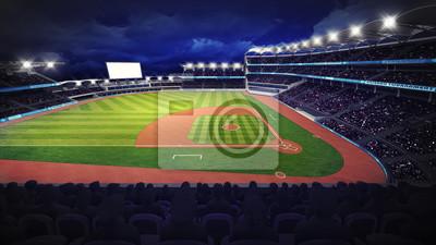 Baseball Stadium z zielonej trawy placu zabaw