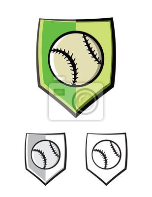 Baseball Tarcza emblemat Ikony Ilustracja