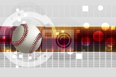 Baseball tła. Wszystkie elementy są w oddzielnych warstwach i pogrupowane.
