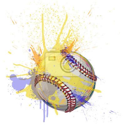 Baseball Utworzono przez profesjonalnych elementów Artist.all przechowywane są w oddzielnych warstwach i pogrupowane.