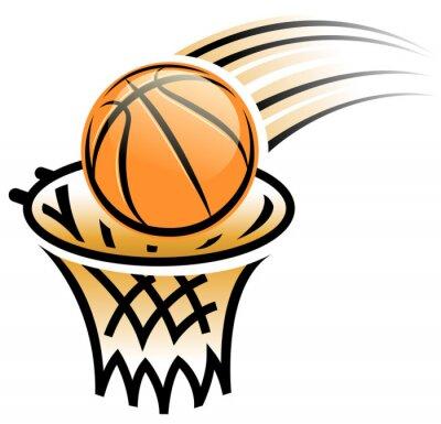 Naklejka basketball hoop symbol