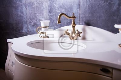 bathroom interior in classic style