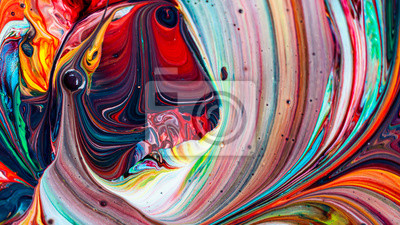 Naklejka Beautiful acrylic color abstract background