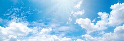 Naklejka Beautiful blue sky cloudsfor background. Panorama of sky.
