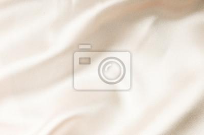 Naklejka beige silk fabric texture. Satin Background