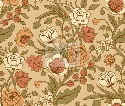 Beige szwu z rocznika bukiety kwiatów