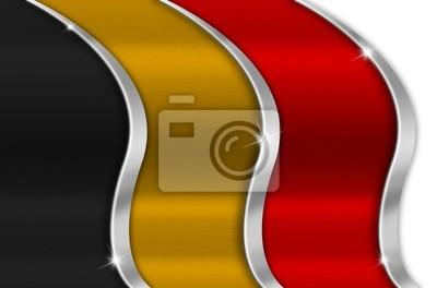 Belgia Metal Flag