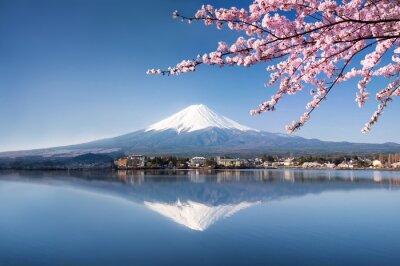Naklejka Berg Fuji in Kawaguchiko Japan