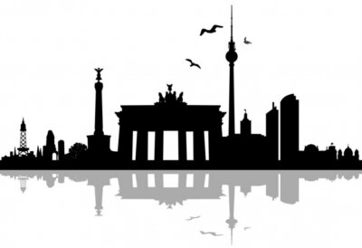 Naklejka Berlin skyline sylwetka