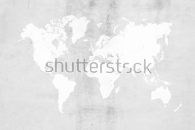 Naklejka Betonowego tynku cementowego froterowania loft styl ścienna lub podłogowa tekstura powierzchni powierzchni tła zastosowania użyj dla tła z światowej mapy