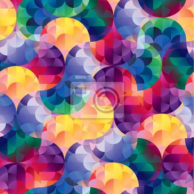 Bez szwu deseń retro kształty geometryczne. Mozaika baner.