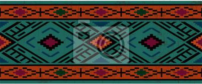 Naklejka Bez szwu deseń w stylu native american, boho ozdoba