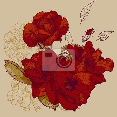 bez szwu różowego tła wzorca projektowego - Romantyczny styl