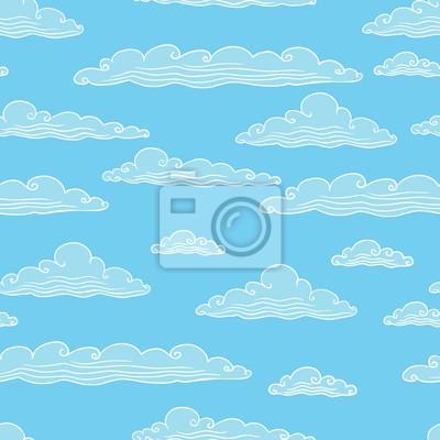 Bez szwu tła z chmury - ilustracji wektorowych.