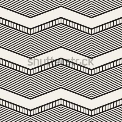 Naklejka Bezproblemowa geometryczny wzór. Zygzakowate paski. Tekstura grafiki wektorowej