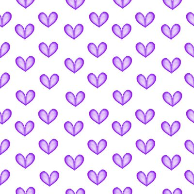Bezszwowa tekstura z błękitnymi akwareli sercami. Bezszwowe tło serca. Szczęśliwych walentynek.
