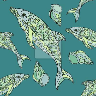 bezszwowe wzór delfinów