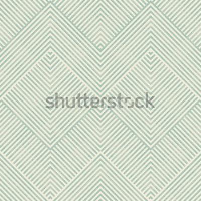 Naklejka Bezszwowy abstrakcjonistyczny geometryczny wzór w turkusie i beżu na tekstury tle. Niekończący się wzór może być stosowany do płytek ceramicznych, tapet, linoleum, tekstyliów, tła strony internetowej.