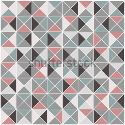 Naklejka Bezszwowy raster geometryczny rombu koloru wzoru tło