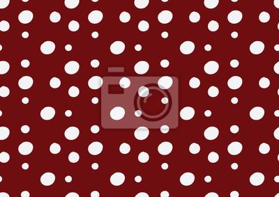 białe polka dot czerwonym tle