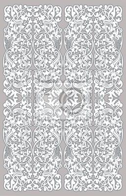 biały bez szwu rocznika wzór na szarym tle