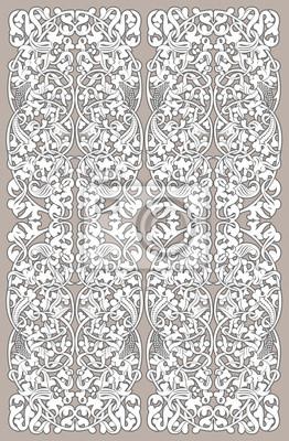 Biały bez szwu rocznika wzór na szarym tle. Może być stosowany do tapety, tkaniny, papier pakowy.