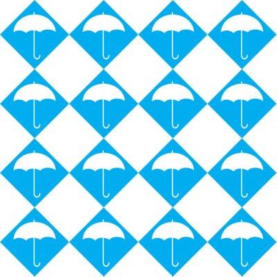 Naklejka Biały parasol