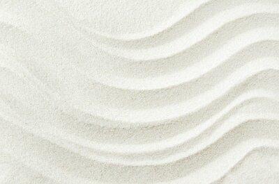 Naklejka Biały piasek tekstury tła z fali wzór