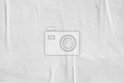 Naklejka Biały pusty zmięty papierowy tekstury tło marszcząca stara plakatowa tekstury tła powierzchnia pusta dla teksta